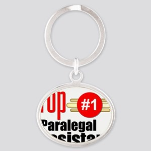 Top Paralegal Assistant  Oval Keychain