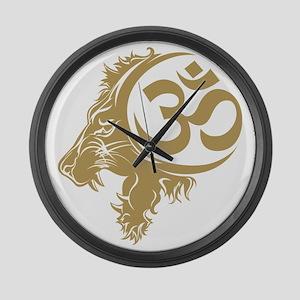 Singh Aum 1 Large Wall Clock