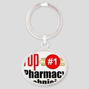 Top Pharmacy Technician  Oval Keychain