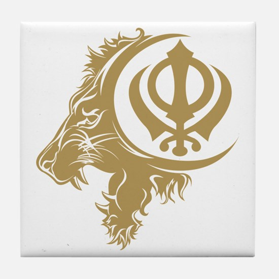 Singh Sikh Symbol 1 Tile Coaster