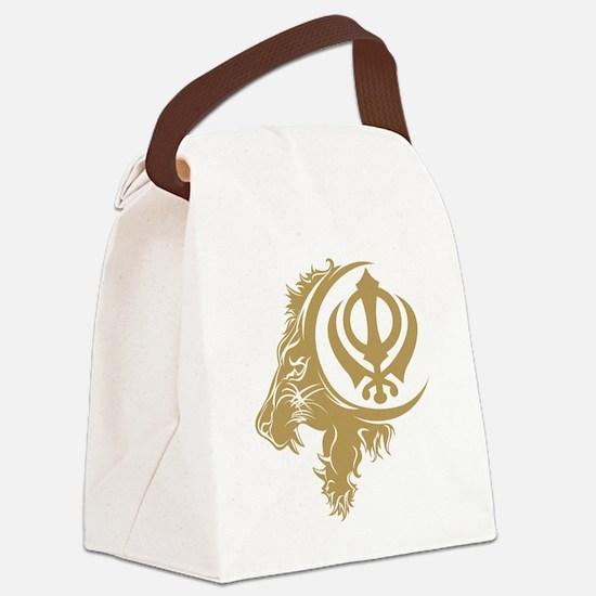 Singh Sikh Symbol 1 Canvas Lunch Bag