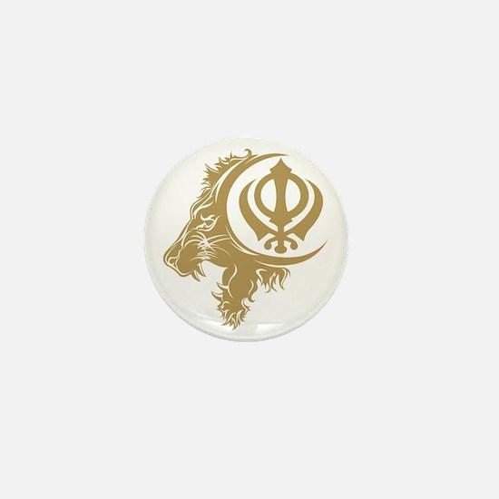 Singh Sikh Symbol 1 Mini Button
