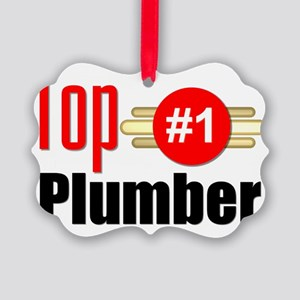 Top Plumber Picture Ornament