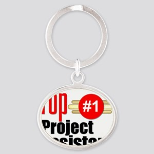 Top Project Assistant  Oval Keychain