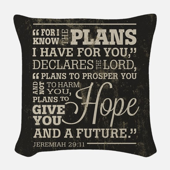Hope and a Future Woven Throw Pillow