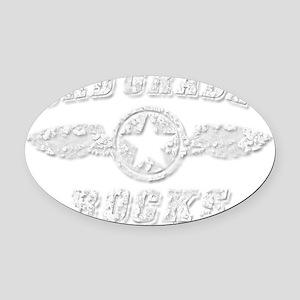 3RD GRADE ROCKS Oval Car Magnet