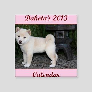 "Dakota cover Square Sticker 3"" x 3"""