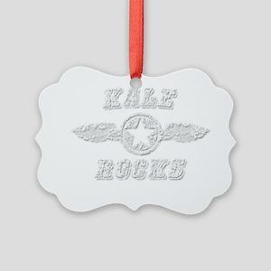 KALE ROCKS Picture Ornament
