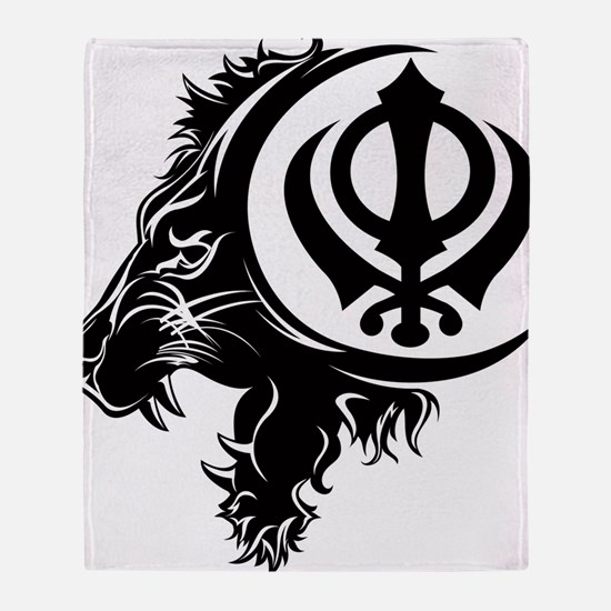Singh Sikh Symbol 1 Throw Blanket