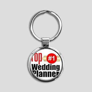 Top Wedding Planner  Round Keychain