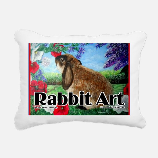 cover rabbit art Rectangular Canvas Pillow