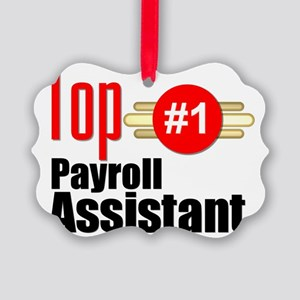 Top Payroll Assistant  Picture Ornament