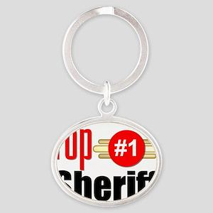 Top Sheriff  Oval Keychain