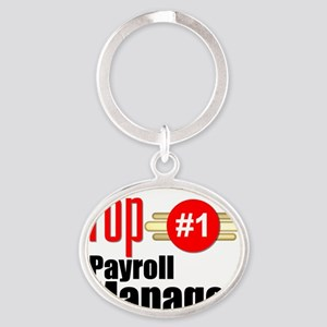 Top Payroll Manager  Oval Keychain