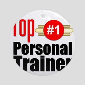 Top Personal Trainer  Round Ornament