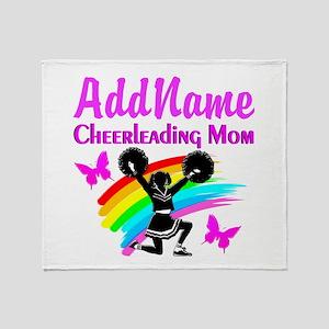 CHEERLEADER MOM Throw Blanket