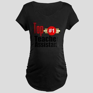 Top Teacher Assistant  Maternity Dark T-Shirt