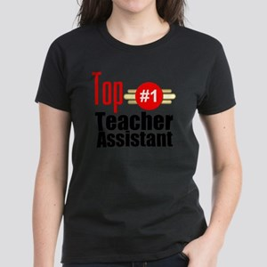 Top Teacher Assistant  Women's Dark T-Shirt