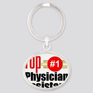 Top Physician Assistant  Oval Keychain