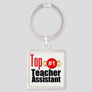 Top Teacher Assistant  Square Keychain