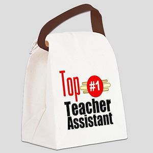 Top Teacher Assistant  Canvas Lunch Bag