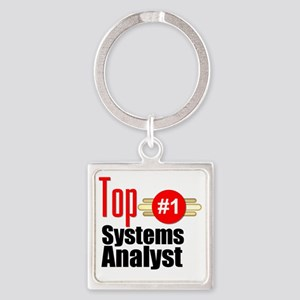 Top Systems Analyst  Square Keychain
