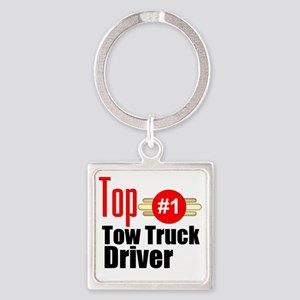 Top Tow Truck Driver  Square Keychain