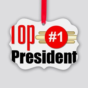 Top President  Picture Ornament