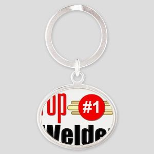 Top Welder  Oval Keychain