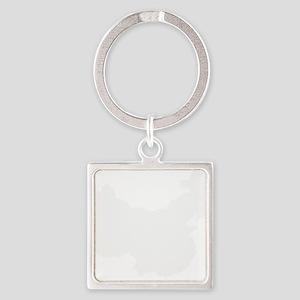 White Square Keychain