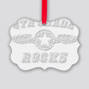 4TH GRADE ROCKS Picture Ornament