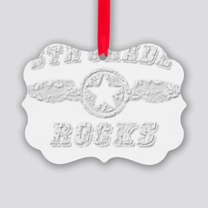 5TH GRADE ROCKS Picture Ornament