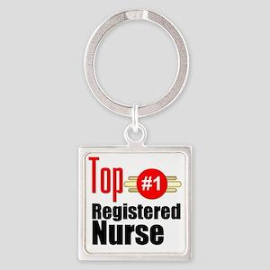 Top Registered Nurse  Square Keychain
