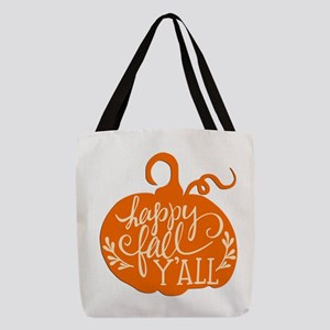 Happy Fall Y'all Polyester Tote Bag