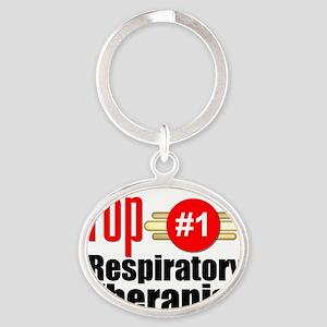 Top Respiratory Therapist   Oval Keychain