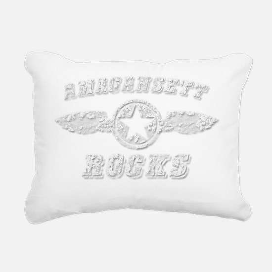AMAGANSETT ROCKS Rectangular Canvas Pillow