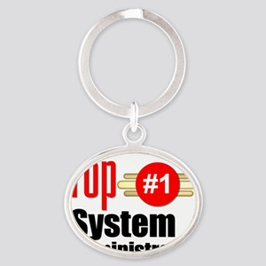 Top Systems Administrator   Oval Keychain