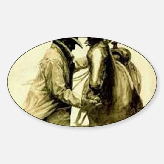 Saddle Up Sticker (Oval)