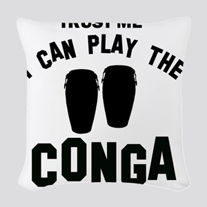 Cool Conga designs Woven Throw Pillow