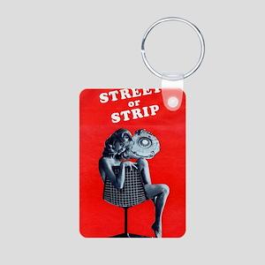Nude Street or Strip Hot R Aluminum Photo Keychain