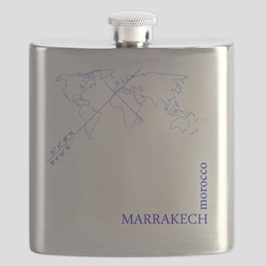 Marrakech geocode map (Blue) Flask