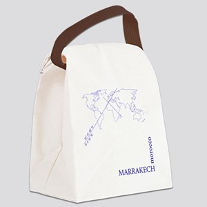 Marrakech geocode map (Blue) Canvas Lunch Bag