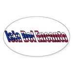 Isla Del Encanto Puerto Rico Oval Sticker
