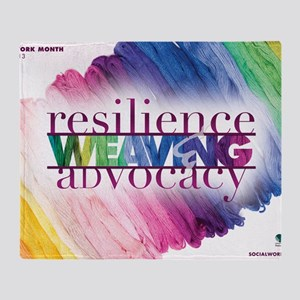 2013 Social Work Month Poster Image Throw Blanket