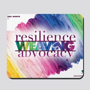 2013 Social Work Month Poster Image Mousepad