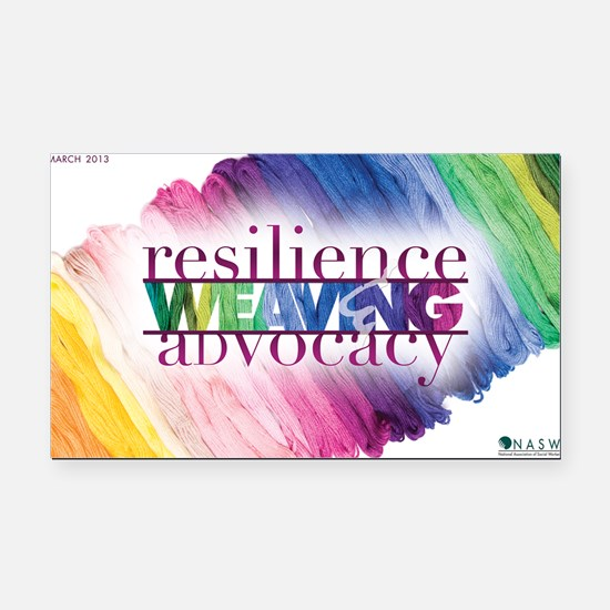 2013 Social Work Month 14x10 Rectangle Car Magnet