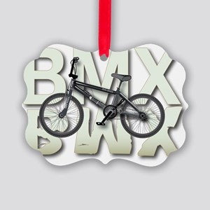 BMX Graphite Bikes Graphic Design Picture Ornament