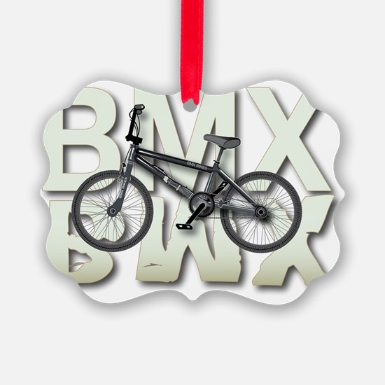 BMX Graphite Bikes Graphic Design Ornament