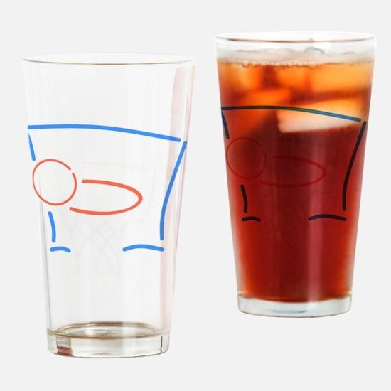 Neon Basketball Drinking Glass