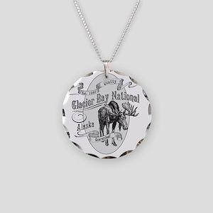 Glacier Bay Vintage Moose Necklace Circle Charm